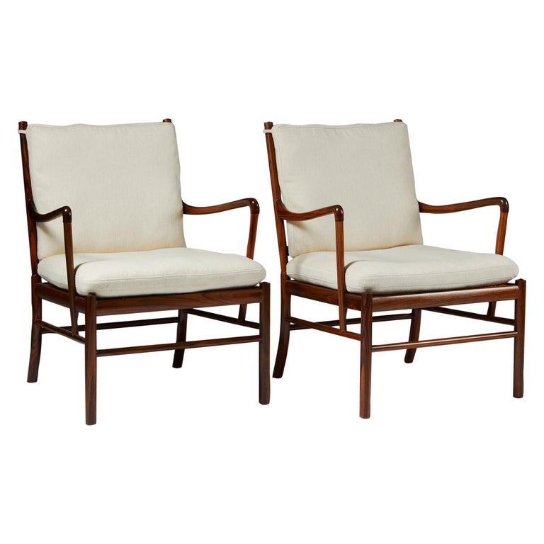 """Pair of Armchairs, PJ 149, """"Colonial"""", Designed by Ole Wanscher for P. Jeppesen For Sale"""