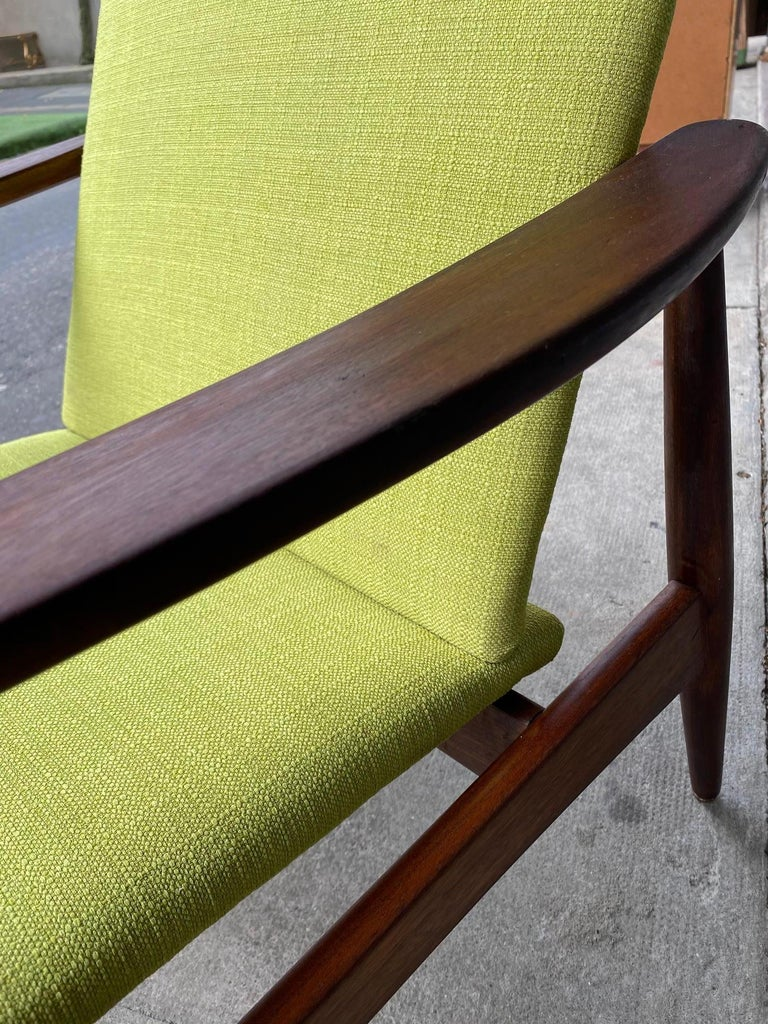 Wood Pair of Armchairs, Portugal, 1960s For Sale