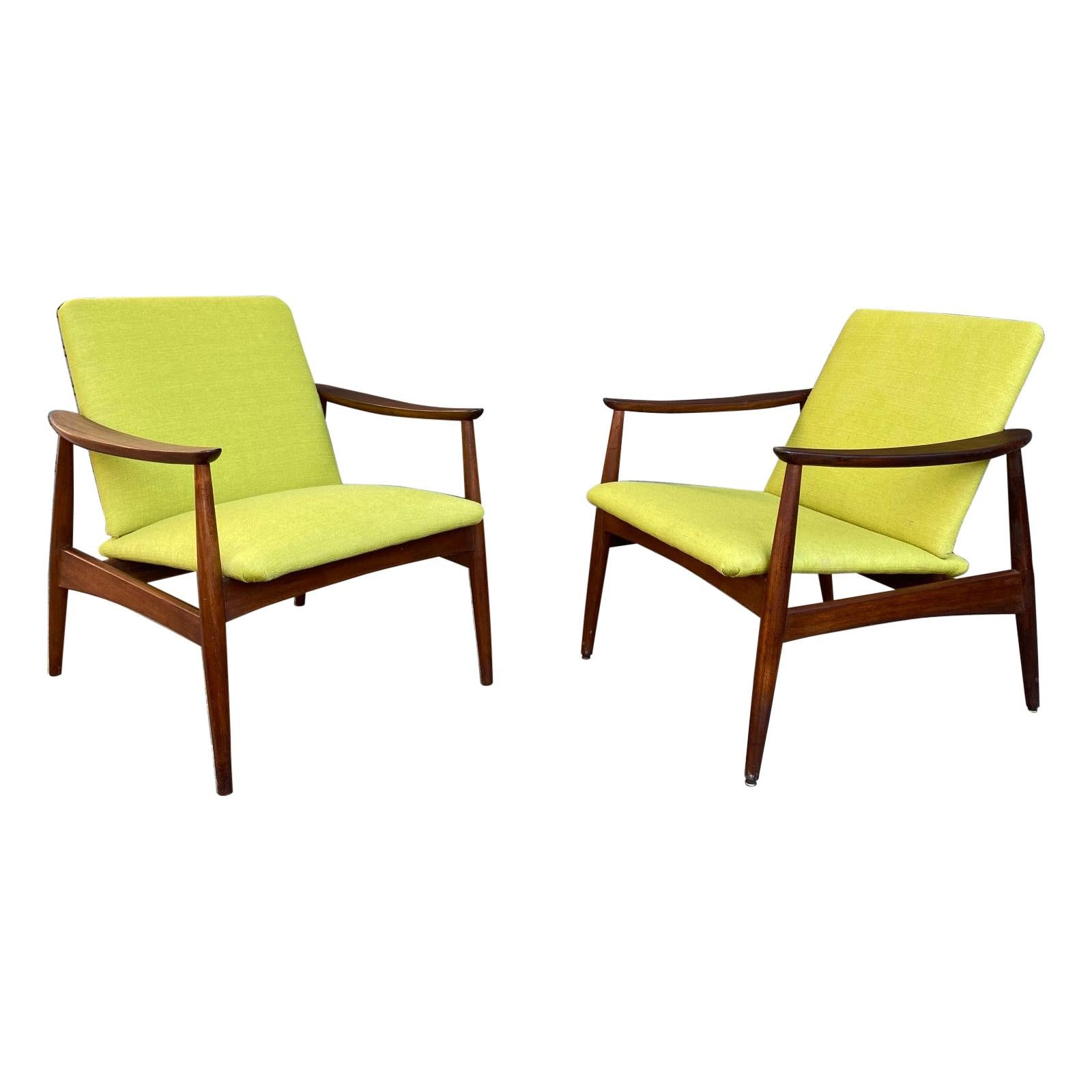 Pair of Armchairs, Portugal, 1960s