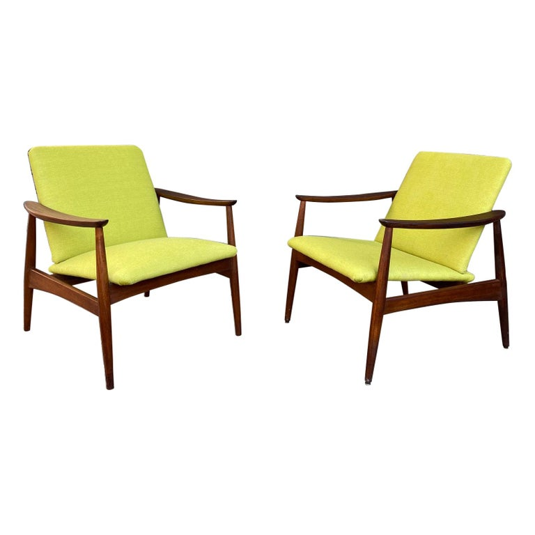 Pair of Armchairs, Portugal, 1960s For Sale