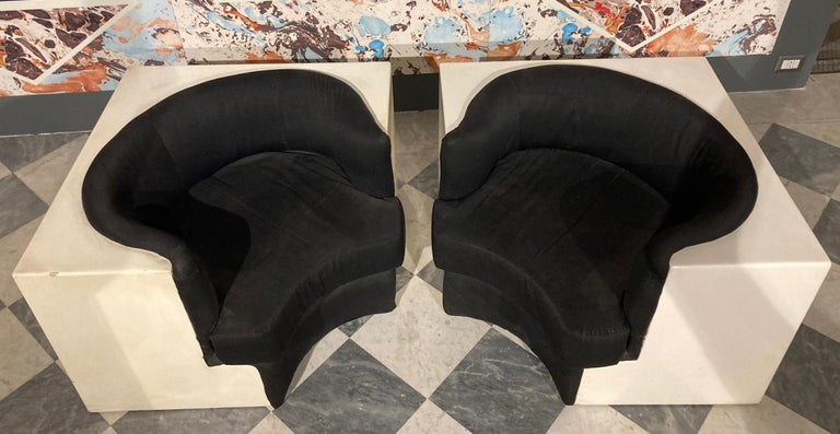Fiberglass Pair of Armchairs