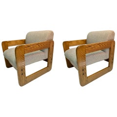 Pair of Armchairs Solid Oak by Unicor