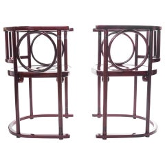 Pair of Armchairs Thonet Mundus, Designed by Josef Hoffmann, Signed, Poland