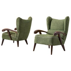 Pair of Armchairs to Be Reupholstered, 1950s