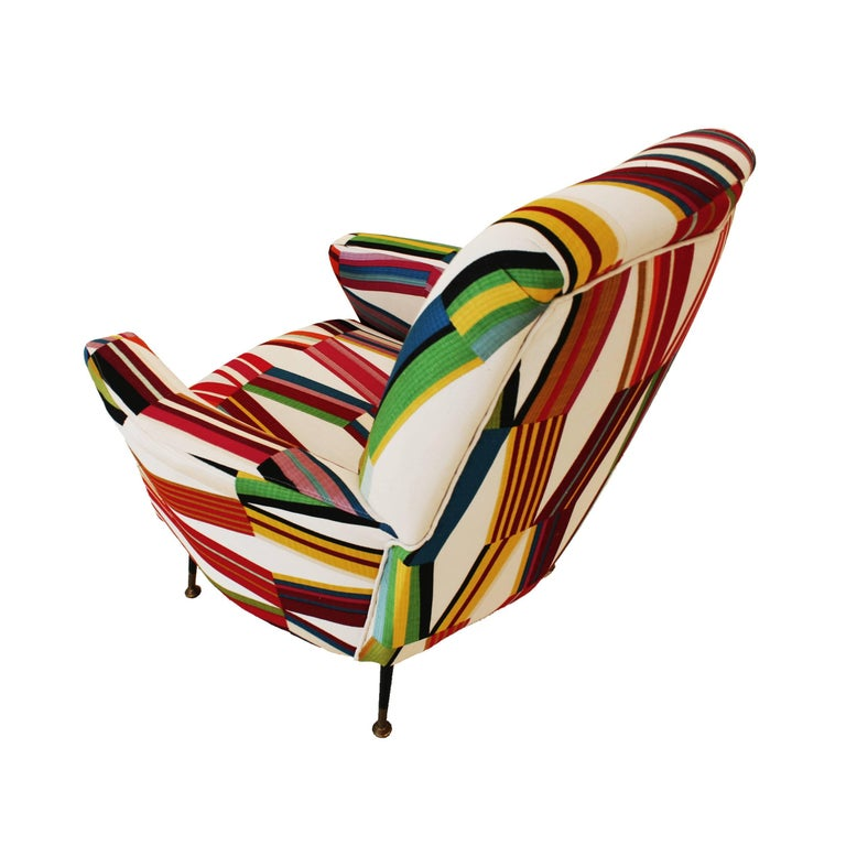 Pair of Armchairs, Italy, 1950 For Sale 1