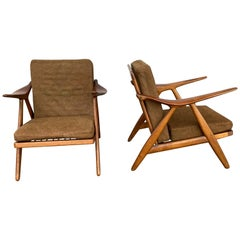 Pair of Arne Hovmand Olsen for Mogens Kold Lounge Chairs