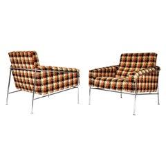 Pair of Arne Jacobsen for Fritz Hansen Series 3300 Lounge Chairs