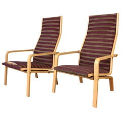 Pair of Arne Jacobsen for Fritz Hansen St Catherine's Lounge Chairs
