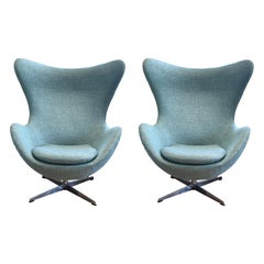 Pair of Arne Jacobsen Style Egg Chairs