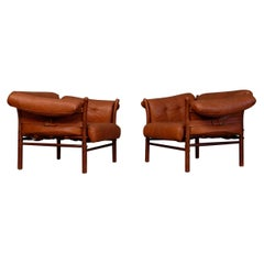 Pair of Arne Norell Easy Chairs Model Ilona, 1960s