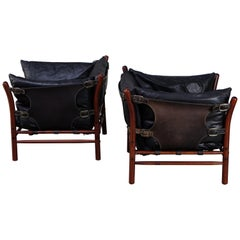 Pair of Arne Norell Easy Chairs Model Ilona, 1970s