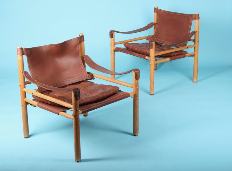 Pair of Arne Norell Easy Chairs Model Sirocco, 1960s In Good Condition For Sale In Meyrin, CH