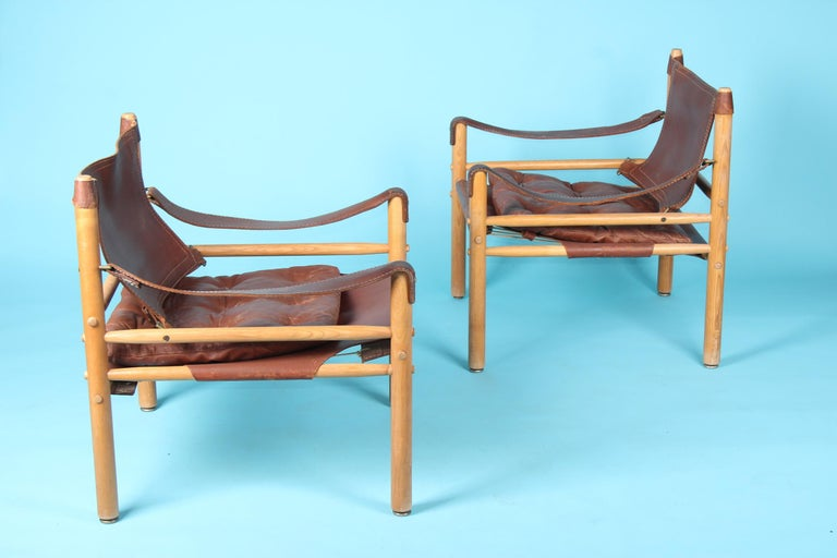 Pair of Arne Norell Easy Chairs Model Sirocco, 1960s For Sale 1