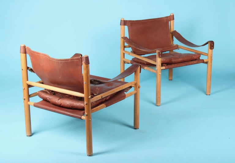Pair of Arne Norell Easy Chairs Model Sirocco, 1960s For Sale 2
