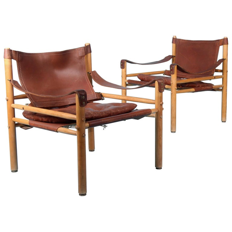 Pair of Arne Norell Easy Chairs Model Sirocco, 1960s For Sale