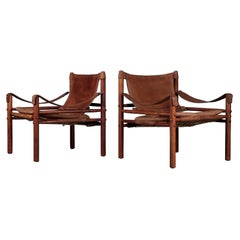 Pair of Arne Norell Easy Chairs Model Sirocco, 1970s