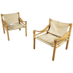 Pair of Arne Norell Lounge Chairs, Model Sirocco, Sweden, circa 1970