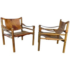 Pair of Arne Norell Sirocco Safari Chairs, 1960s