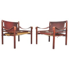 Pair of Arne Norell Sirocco Safari Chairs