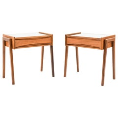 Pair of Arne Vodder Teak and Glass Side Tables
