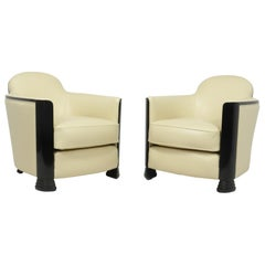 Pair of Art Deco Armchairs Attributed to Jules Leleu, c1950