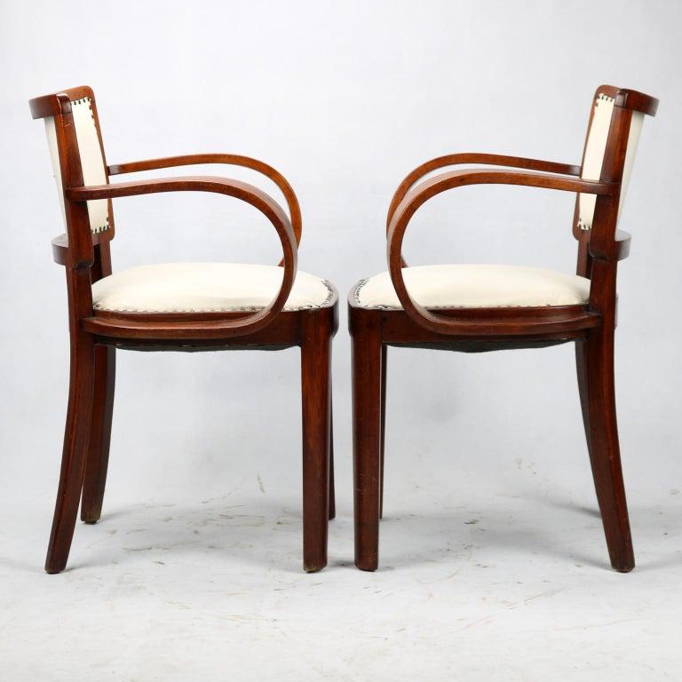 Art Deco armchairs, in very good original condition.