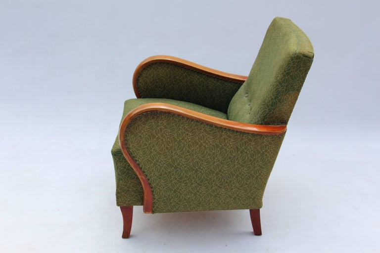 Hungarian Pair of Art Deco Armchairs, circa 1930 For Sale