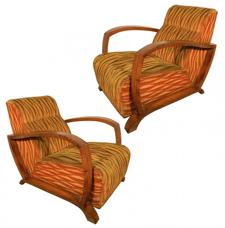 Pair of Art Deco Armchairs, circa 1930 In Good Condition For Sale In Saint-Ouen, FR