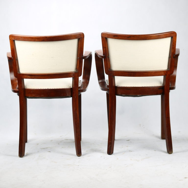 Pair of Art Deco Armchairs, circa 1930 In Good Condition For Sale In Lucenec, SK