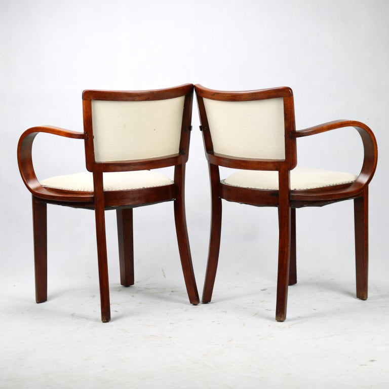 Mid-20th Century Pair of Art Deco Armchairs, circa 1930 For Sale