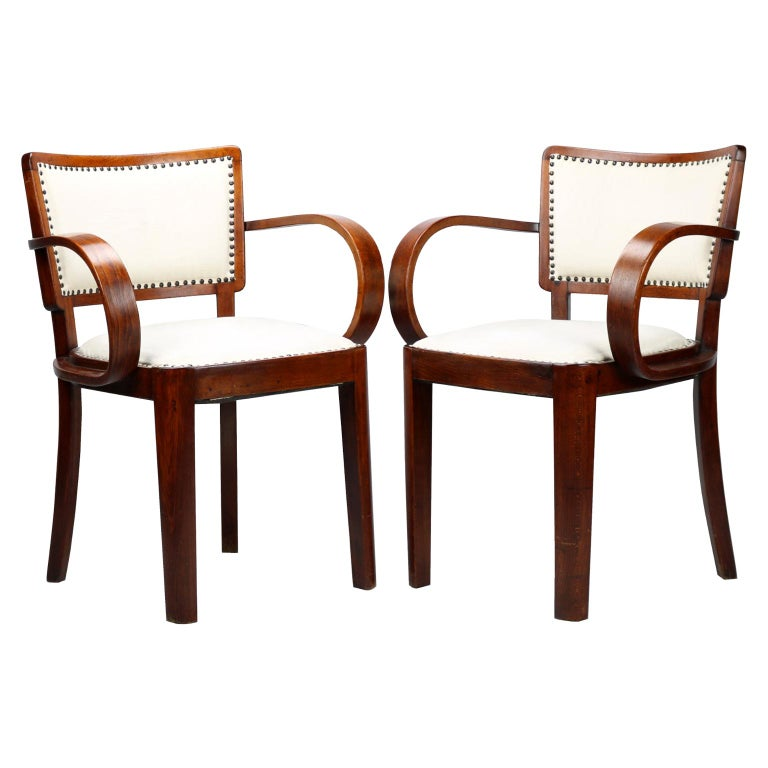 Pair of Art Deco Armchairs, circa 1930 For Sale