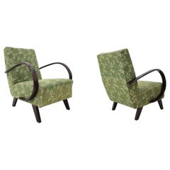 Pair of Art Deco Armchairs Designed by Jindrich Halabala, 1930s