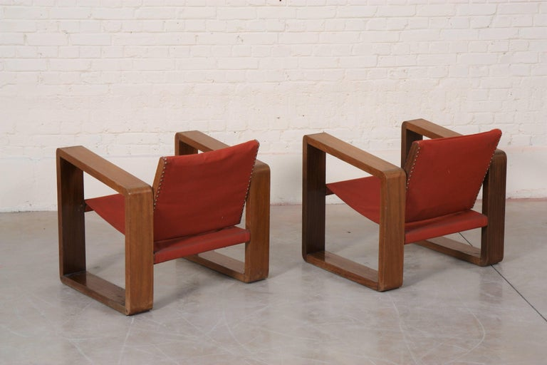 French Pair of Art Deco Armchairs For Sale