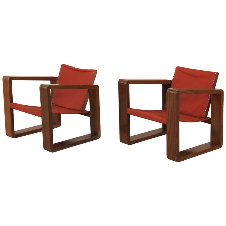Pair of Art Deco Armchairs For Sale