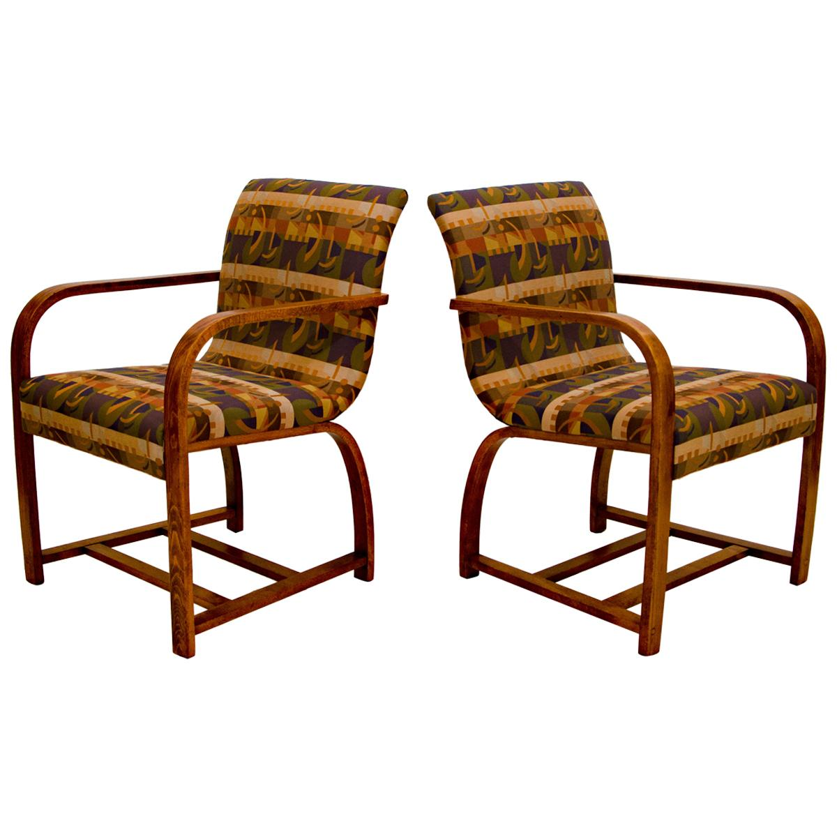 Pair of Art Deco Armchairs, Gilbert Rohde for Heywood Wakefield
