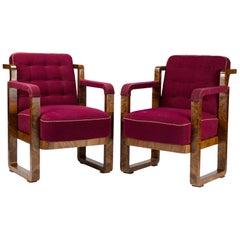 Pair of Art Deco Armchairs in Original Condition, circa 1920