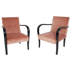 Pair of Art Deco Armchairs, Italy