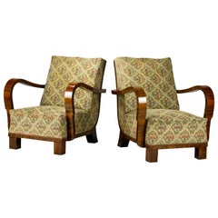 Pair of Art Deco Armchairs / Lounge Chairs, 1930s