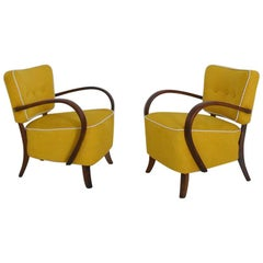Pair of Art Deco Armchairs Model H 237 by Jindrich Halabala