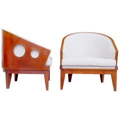 Pair of Art Deco Barrel-Chairs