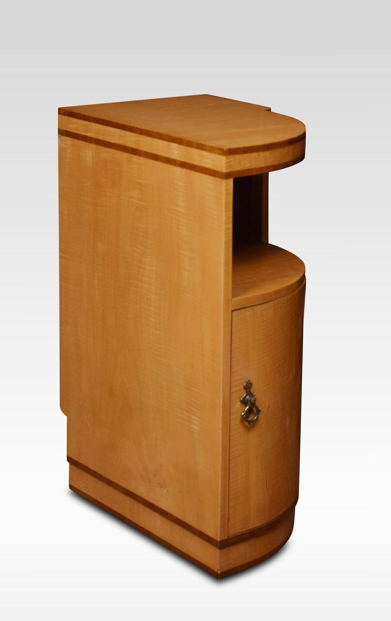 British Pair of Art Deco Bedside Cabinets For Sale