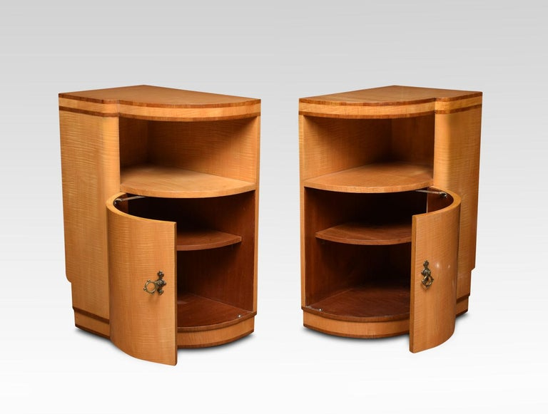 Pair of Art Deco Bedside Cabinets In Good Condition For Sale In Cheshire, GB