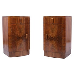 Pair of Art Deco Bedside Cabinets