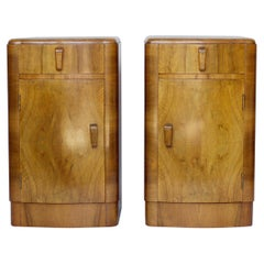 Pair of Art Deco Bedside Tables, English, circa 1930
