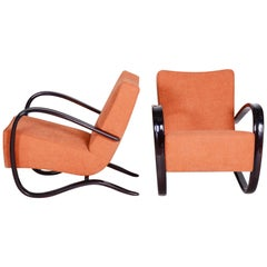 Pair of Art Deco Beech Armchairs H-269 from Czechoslovakia by Jindrich Halabala