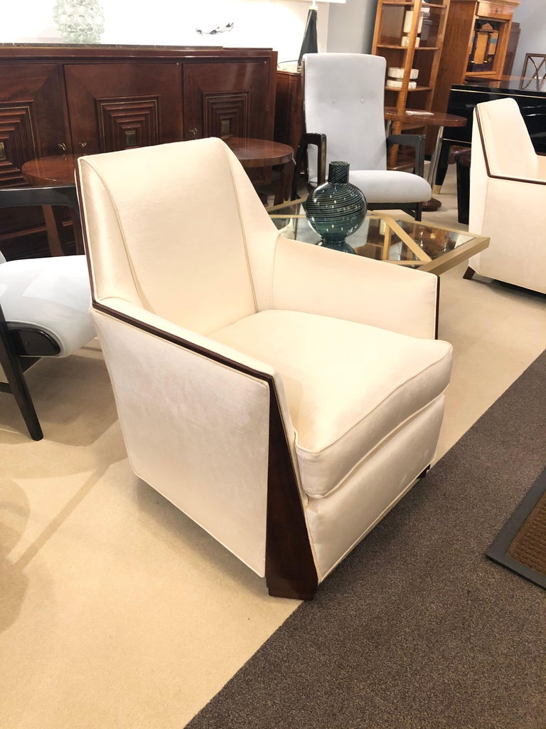 French Pair of Art Deco Bergères For Sale