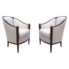 Pair of Art Deco Bergères