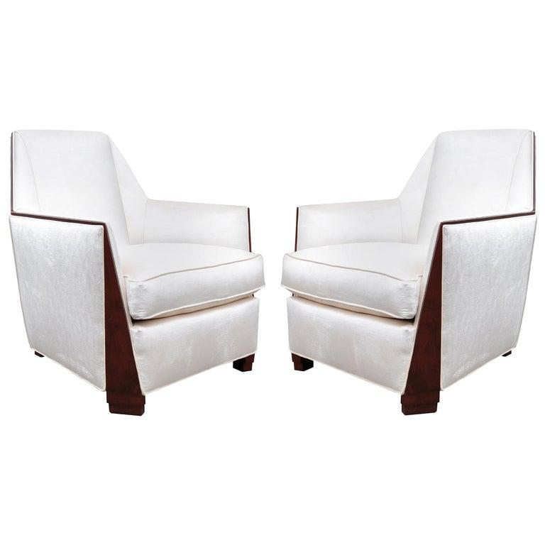Pair of Art Deco Bergères For Sale
