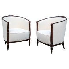 Pair of Art Deco Bergères