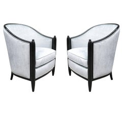 Pair of Art Deco Bergeres